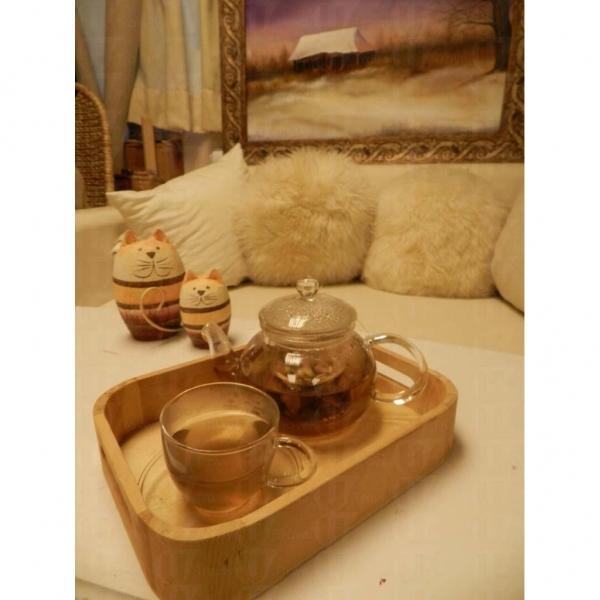 各位完成自己的大作後,不妨坐下,一邊靜享花茶,一邊細味自己畫作。