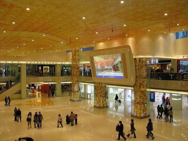 東港城商場中庭