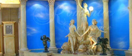 杏花新城到處都有各種藝術擺設,充滿歐陸風情。