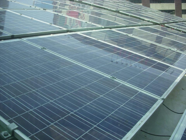 其中一款太陽板「多晶硅太陽能光伏板」,相比起其他兩種這種較便宜及高效能!(網上圖片)