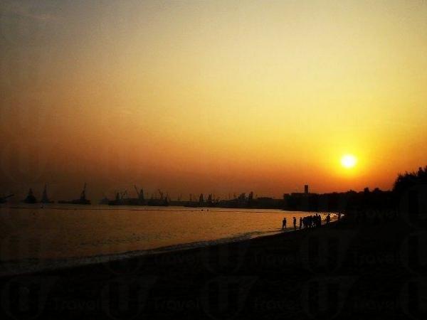 蝴蝶灣的日落。