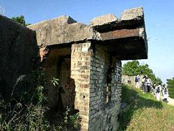 松林炮台是建於1903年的軍事遺跡(漁農署圖片)