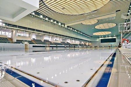 維園新泳池可調校水深,最多深五米。