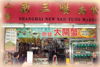 上海新三陽門市。