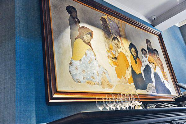 價值港幣 10 萬元的名畫,出自著名越南畫家 Bui Huu Hung 的手筆。