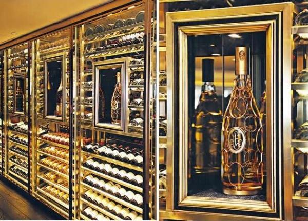 Le Dome de Cristal 酒窖可藏過千瓶酒,而且更像珠寶 Showcase 般將特別版香檳展示給大家。/ 只製作了 400 瓶的限量 2002 Cristal Jeroboam 還未正式在