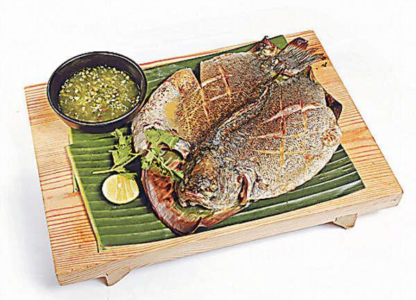 青醬燒原條寶石魚 $168選用本地優質養魚場的出品,魚油十足。