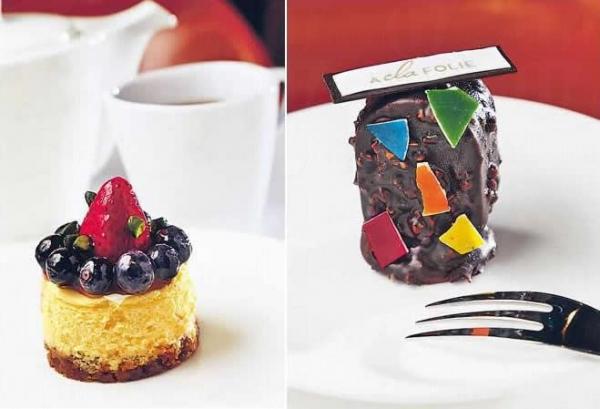 藍莓芝士蛋糕($35)/ Allegretto 榛子朱古力慕絲($35)