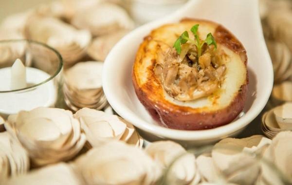 美國馬鈴薯協會 x SDM Kitchen呈獻:「牛肝菌蟹肉釀美國小馬鈴薯」