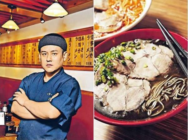 博多一幸舍創始人吉村幸助。/ 黑($78):湯底加入了香燒大蒜和自家製黑芝麻,味道濃甜有致。
