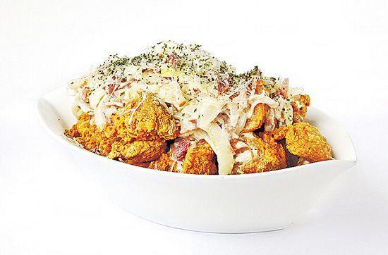 卡邦尼炸雞($198):醬汁有豐富的忌廉奶香味,雖然較稠身,但跟雞肉味道匹配。