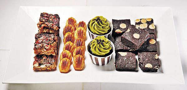 【Brownie、Madeleines、Mixed Nuts Bar、Cup Cake 各$18-$28/件】多款蛋糕甜點全由Monique自家製,足料好味,但不太甜。