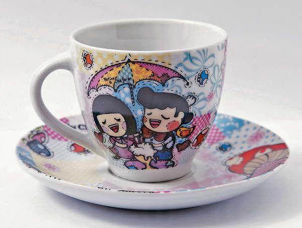 粉絲必買:咖啡杯連碟 $150