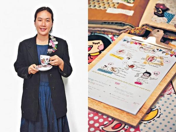「Chocolate Rain」設計師麥雅瑞(Prudence) / 連餐牌也是由Prudence手繪。