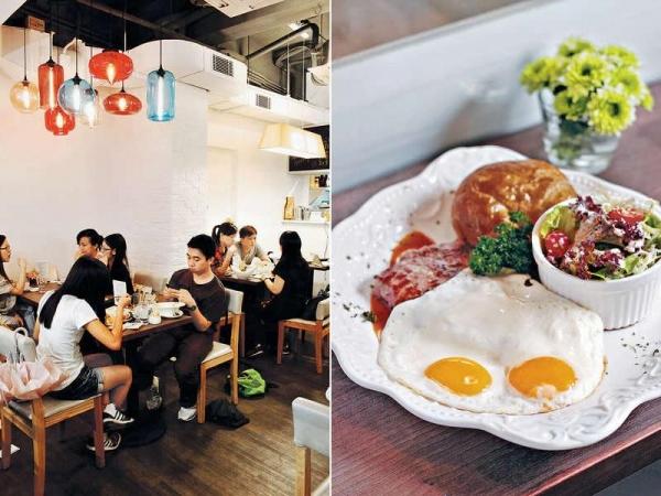 Cafe設計簡單,不造作。滿14人就可包場,開私人派對。 / 【穀飼西冷牛扒配煎雙蛋、牛角包及田園沙律 $98】牛扒只加黑椒調味,肉質肉味俱天然。