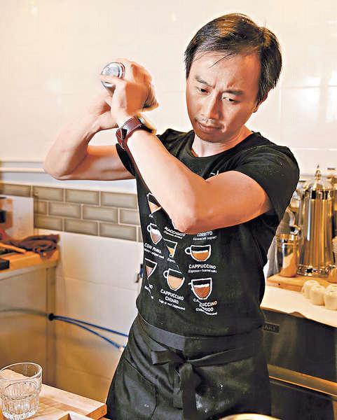 所有冰咖啡都用調酒器手搖出來,隔走冰粒,啡味更濃。