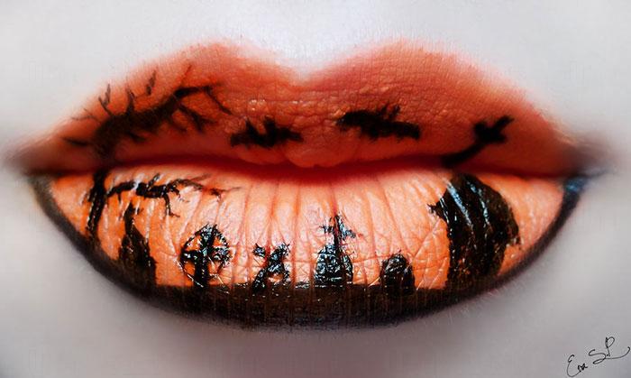 女巫唇妝 萬聖節化出藝術