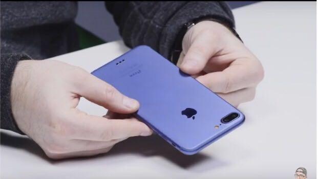 新出藍色機身! iPhone 7 Plus實物到手 外型細節率先睇!