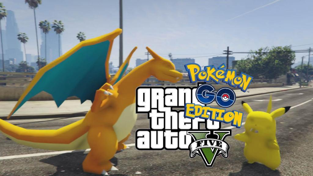用精靈球收伏路人!GTA版Pokemon GO