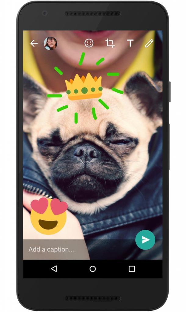 影相可加emoji畫公仔!Whatsapp Android限定3大相機更新