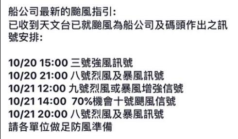 網瘋傳明晚掛8、9號波 天文台撰文回應