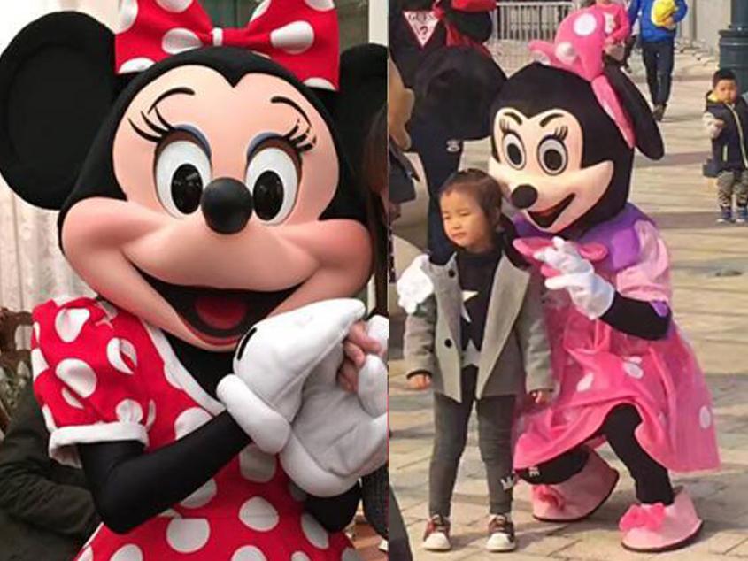 上海迪士尼驚現山寨米妮 搵遊客影相拎貼士