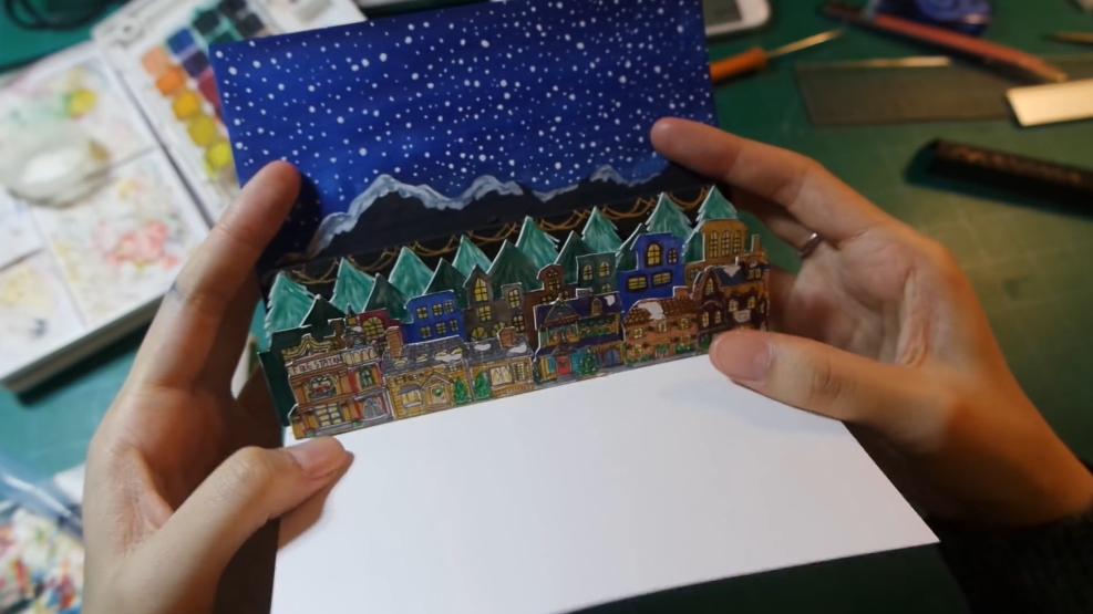 誠意滿分!手繪立體聖誕卡DIY