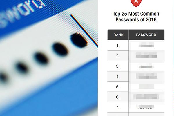 連wifi時經常見的密碼!2016年25個最熱門密碼
