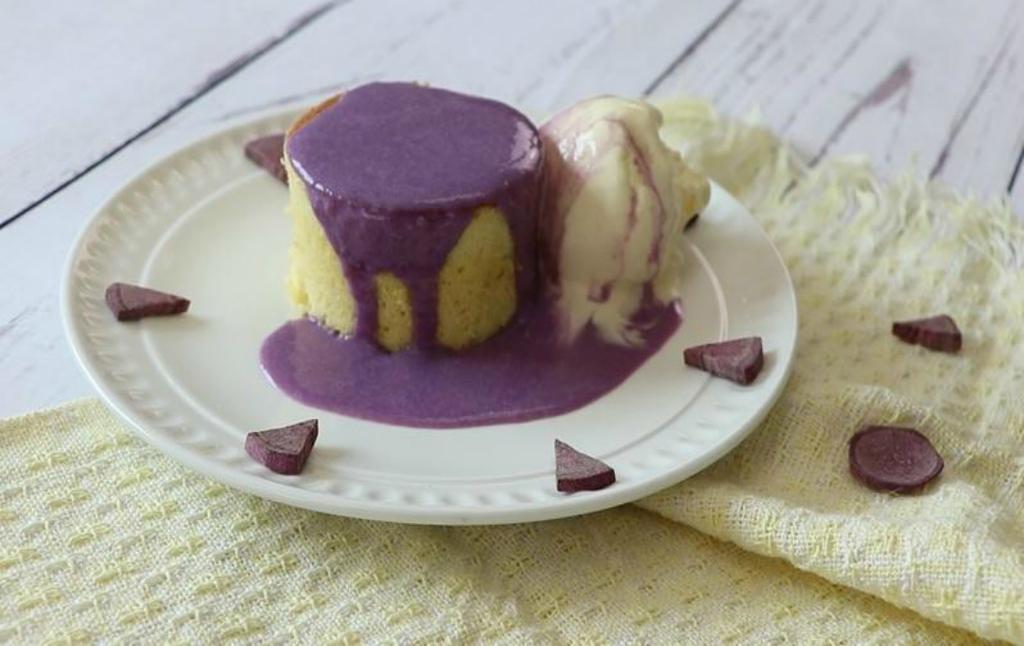 免焗版心太軟!用平底鑊整紫薯夾心蛋糕