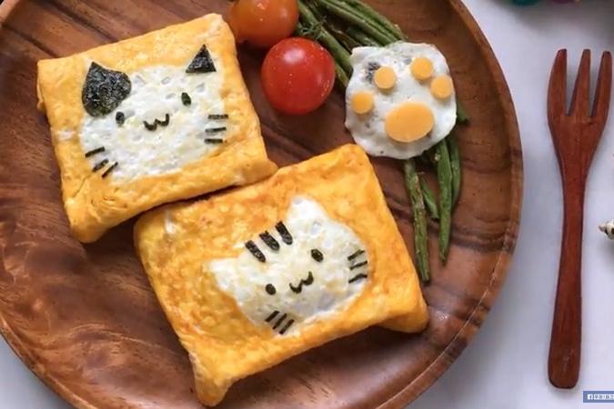 喵星人可愛食法!4步自製貓咪蛋卷