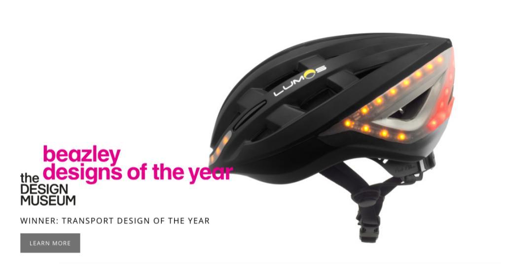 夜間踩單車更安全!港設計智能頭盔贏英國設計獎