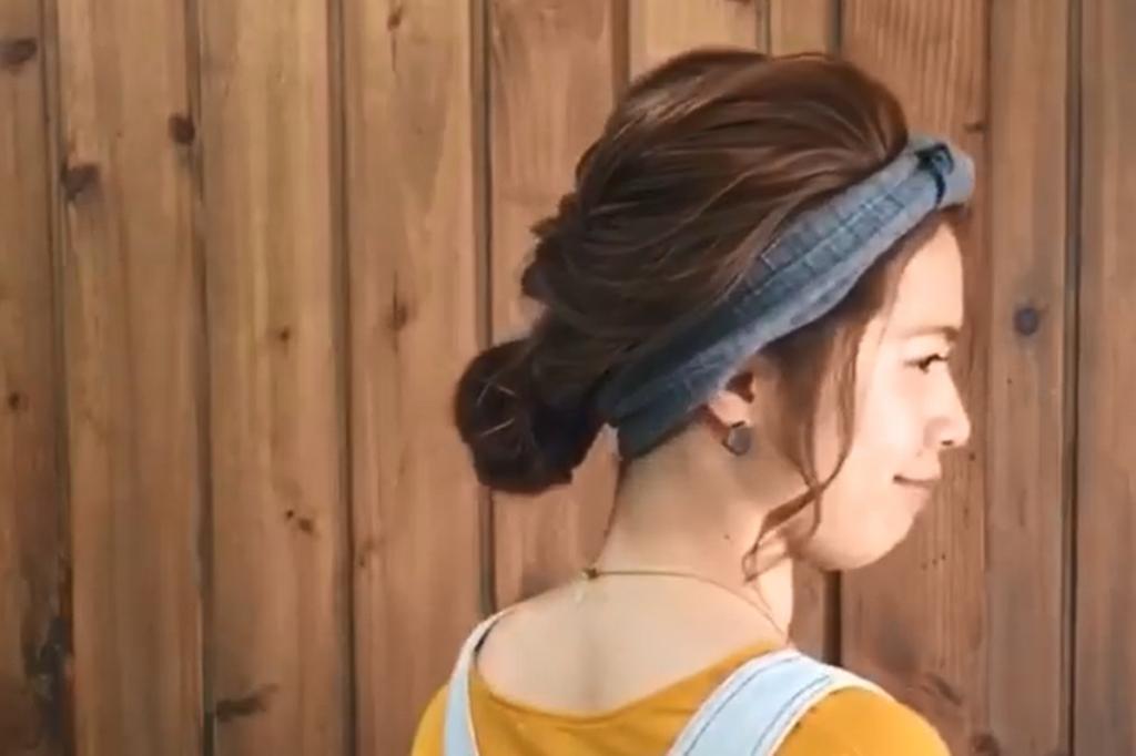 必學簡單盤髮 1分鐘綁出日系髮帶造型