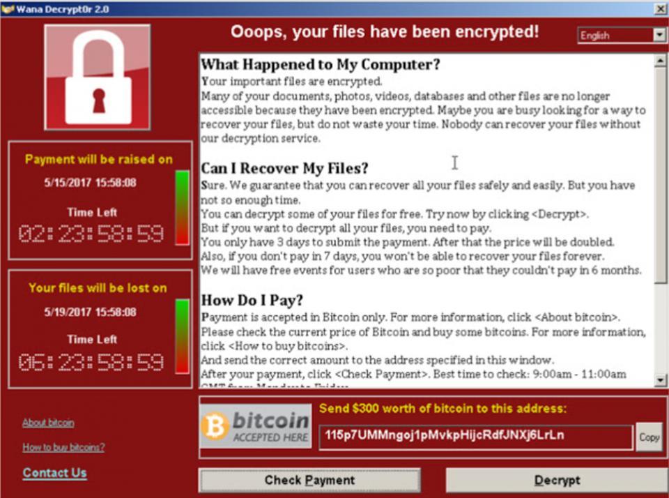 勒索病毒WannaCry繼續肆虐 專家建議5招檢查兼自保