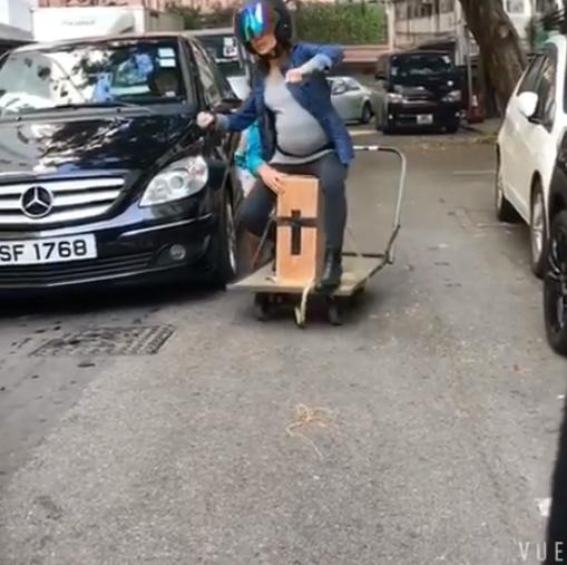 黃智雯自爆幕後花絮 原來電單車追逐戰原來係咁拍