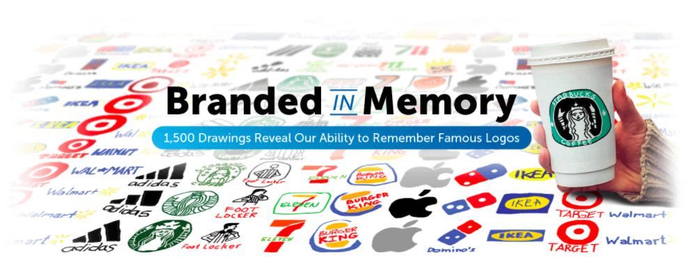 憑記憶畫品牌Logo  星巴克Adidas蘋果全走樣