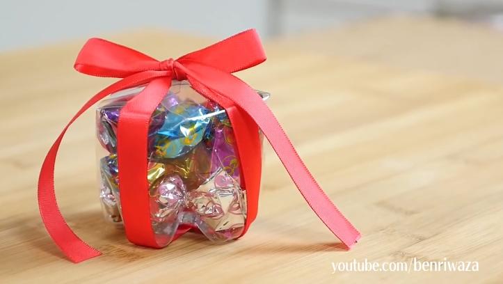 1個膠樽整出小驚喜!簡單自製透明糖果禮物盒