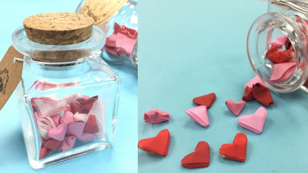 母親節DIY!有心過摺星星 摺出滿滿一瓶立體心心