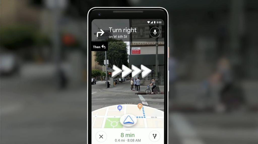 實景地圖+箭咀帶你到目的地 GOOGLE MAP AR技術助路痴搵路
