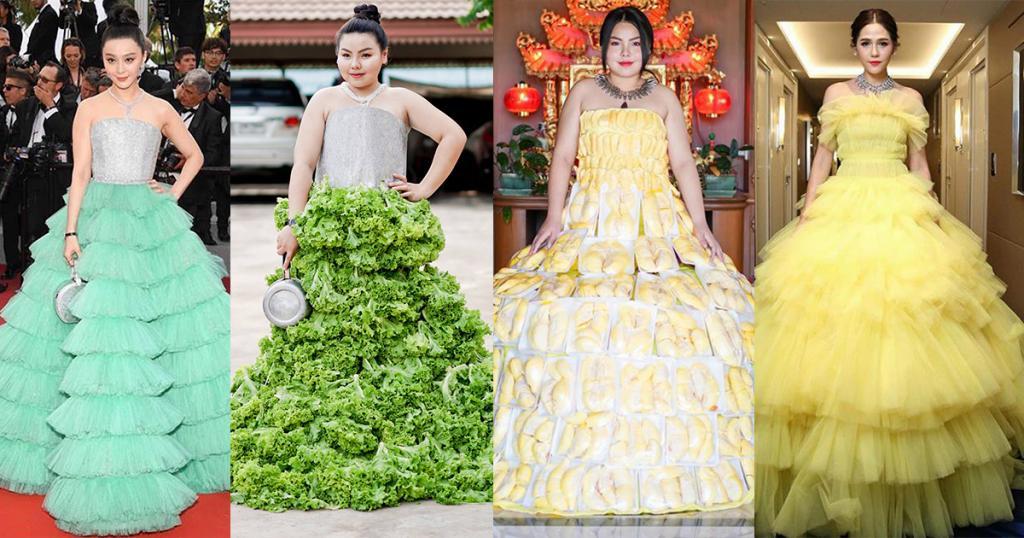 泰國女低成本cosplay變時裝達人!用食物創意神還原高貴造型