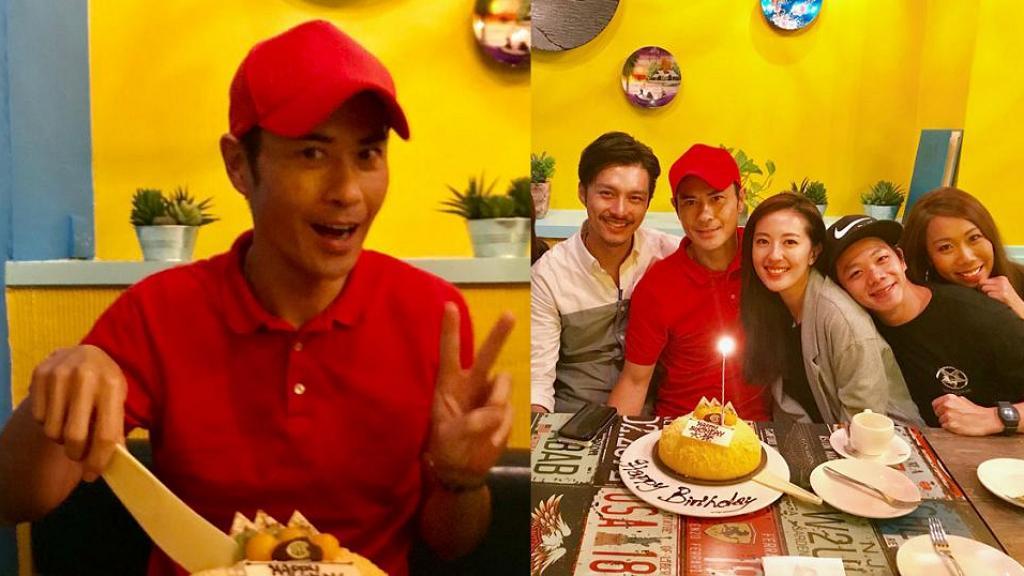 鄭嘉穎與好友補祝生日有亮點 被網民笑著紅衫紅帽似送完外賣