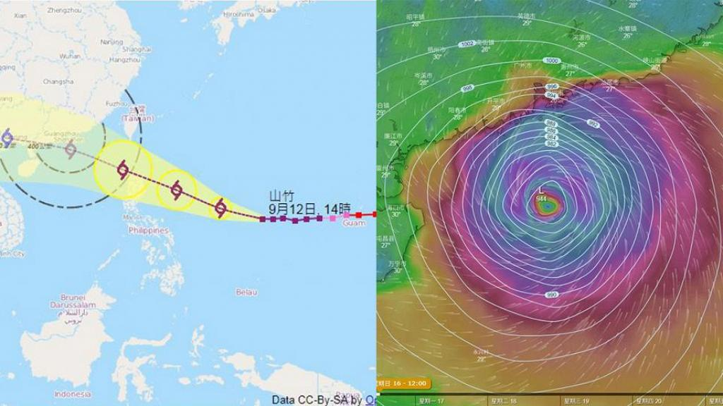 【颱風山竹】威力比天鴿更驚人 若正面吹襲或成本年度首個十號風球