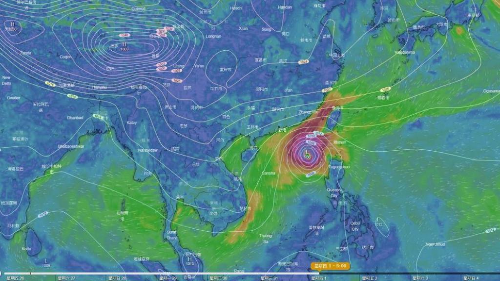 超強颱風玉兔路徑飄忽有機殺入香港 歐洲預報:下周初或進入香港以南500公里