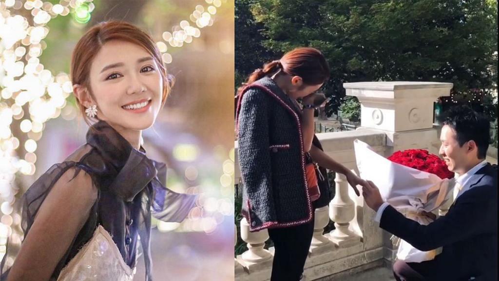 男友驚喜現身巴黎浪漫求婚  倪晨曦2018年最後一日IG宣布已訂婚