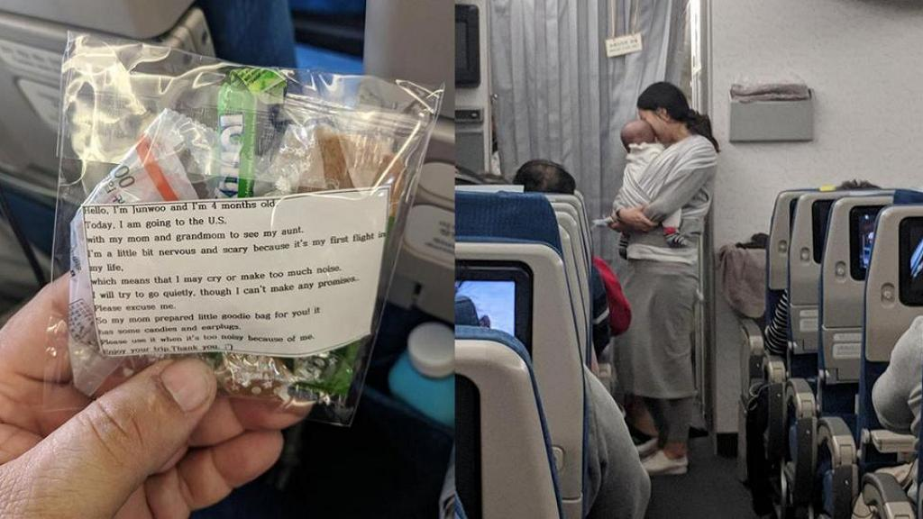 擔心BB喊聲影響其他乘客 新手媽媽貼心預備200份耳塞+糖果小禮物