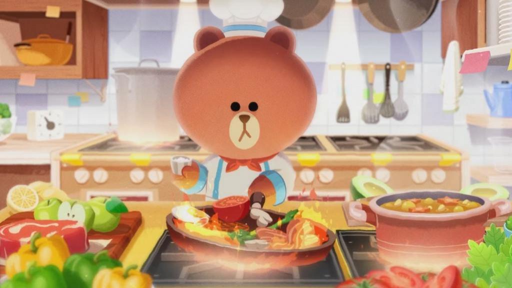 【手遊】LINE推全新手機遊戲《LINE熊大上菜》 熊大變身廚師經營餐廳!