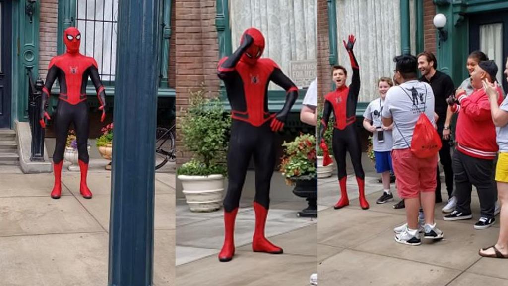 【蜘蛛俠:決戰千里】脫下面罩令遊客超驚喜!蜘蛛俠Tom Holland現身主題樂園