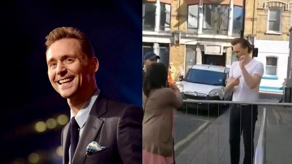 發現影迷只等男神一面但不能說話 Tom Hiddleston即以手語感激舉動超窩心