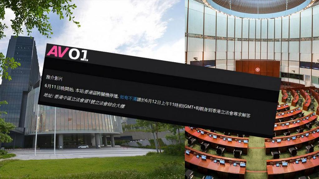 【逃犯條例】成人網站響應612罷工 首頁公告6月11晚起關機停播