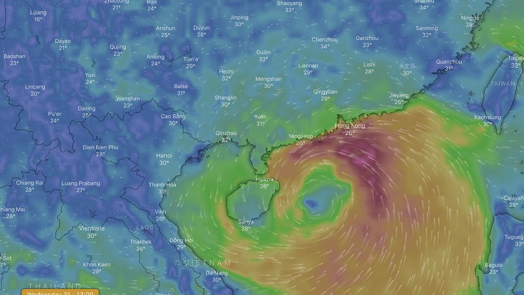 【熱帶風暴韋帕】天文台發出本年度首個8號風球 本港風勢將會持續加強