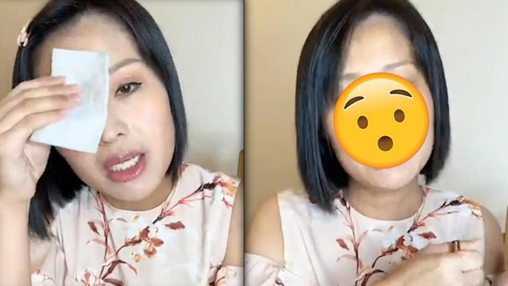 離巢港姐勇敢直播卸妝過程 網民見素顏樣驚訝老了十歲